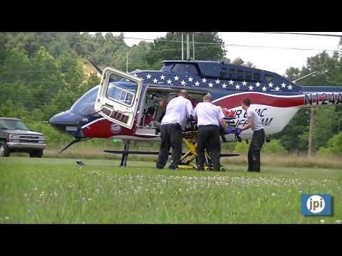 071911 Air Evac transports workplace accident victim