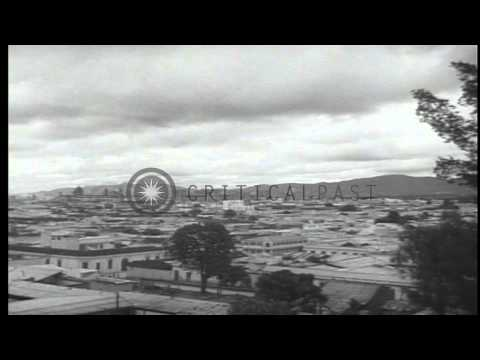 View of   American Embassy building and the capital, Guatemala city. HD Stock Footage