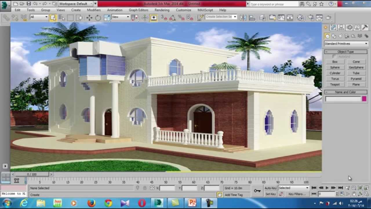 Interior and exterior design using 3d max studio online for Home exterior and interior designs