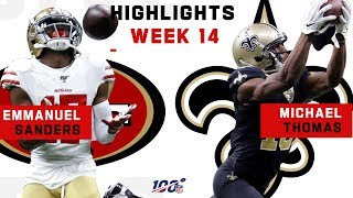 Emmanuel Sanders & Michael Thomas Can't Be Contained | NFL 2019 Highlights