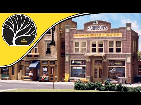 O Scale Building – Harrison's Hardware – Model Building | Woodland Scenics