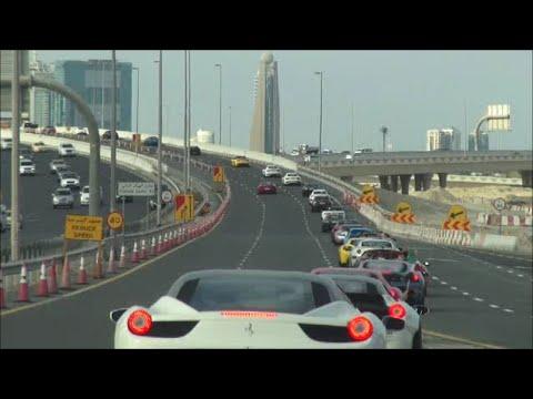 Dubai Grand Parade 2014 Part 1!! (On Board Ferrari FF)