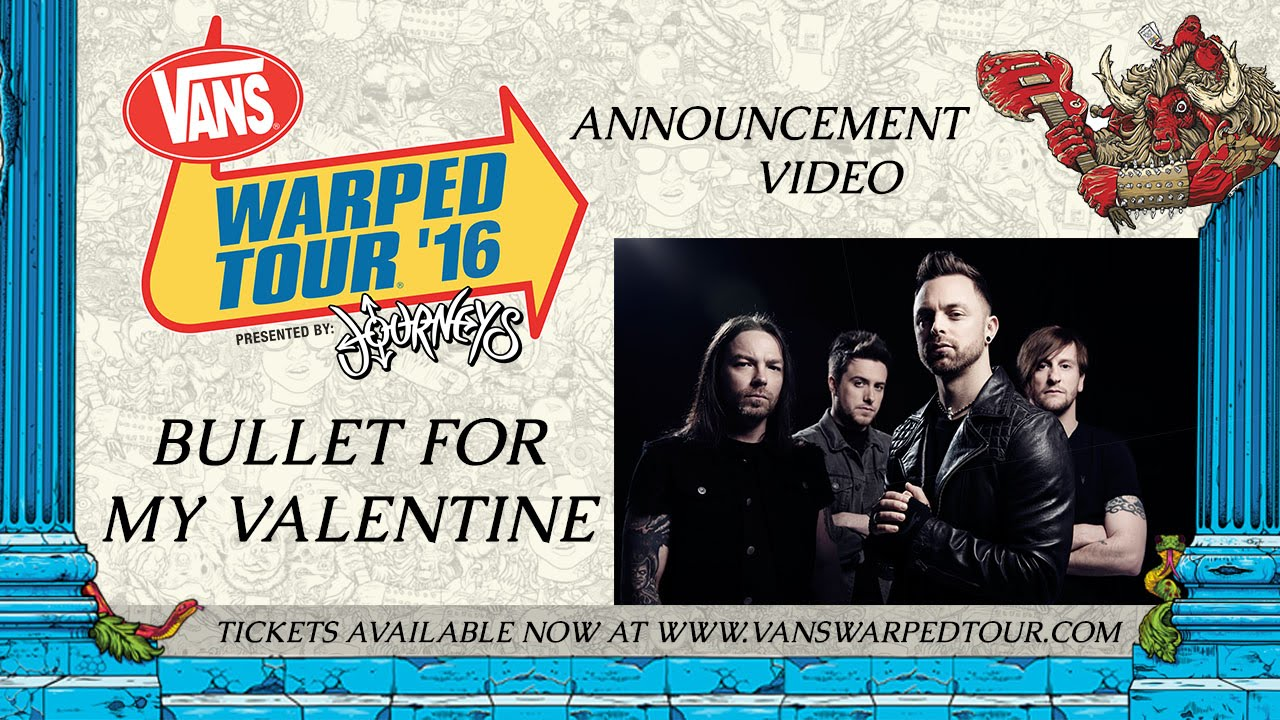 Bullet For My Valentine Warped Tour Announcement Video