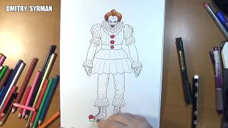 Speed drawing Pennywise from IT 2017 Movie