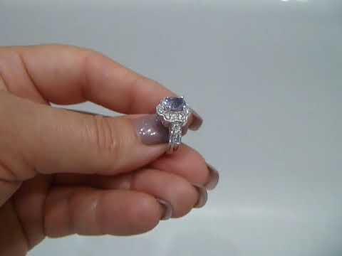 Кольцо с натуральным танзанитом 1.1 Ct Размер 16.5 Серебро 925