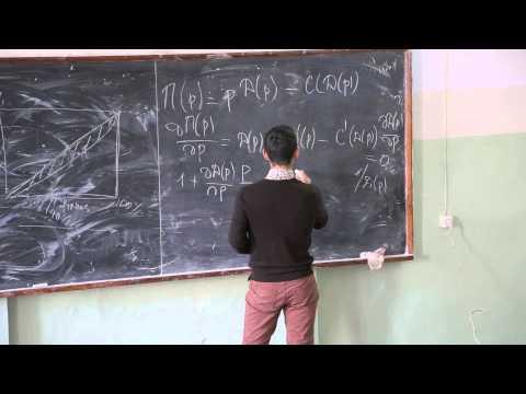 Теория отраслевых рынков. Лекция 2. Азамат Кашакбаев (CERGE-EI, Прага)