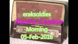 Radio Ceylon 05-02-2016~Friday Morning~02 Manoranjan - V N Kinkar, Pune, Maharashtra