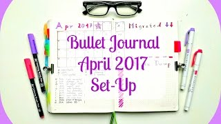 bullet journal   april 2017 set up   yes it s april already can you believe it