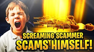 Crazy Screaming Scammer Scams Himself! (Scammer Gets Scammed) Fortnite Save The World