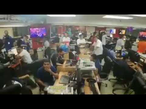 La redacción después del gol de Kendall del ''Diario Deportivo Diez'' de Honduras