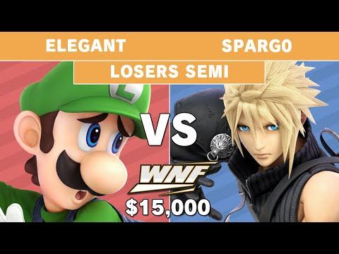 WNF 2.6 $15K - Elegant (Luigi) vs Sparg0 (Cloud) Losers Semi Final - Smash Ultimate