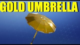 New GOLD UMBRELLA In Fortnite FREE Rewards FORTNITE SEASON 8