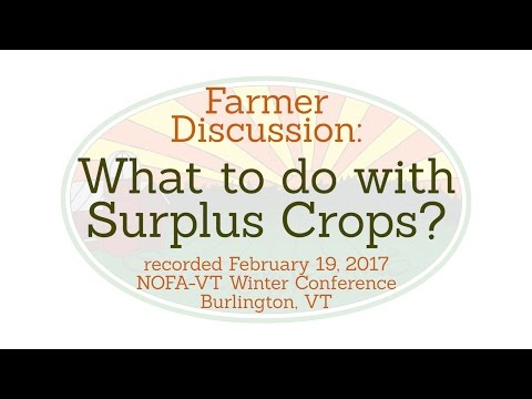 What to do with Surplus Crops?