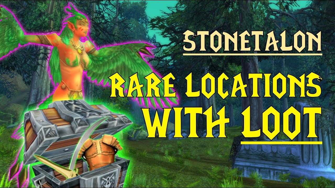 Wow Classic Rare Mob Locations Unique Loot Stonetalon Youtube