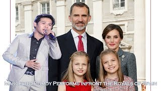 Marcelito Pomoy singing Despacito & The Prayer (ft. Royal Family of Spain)