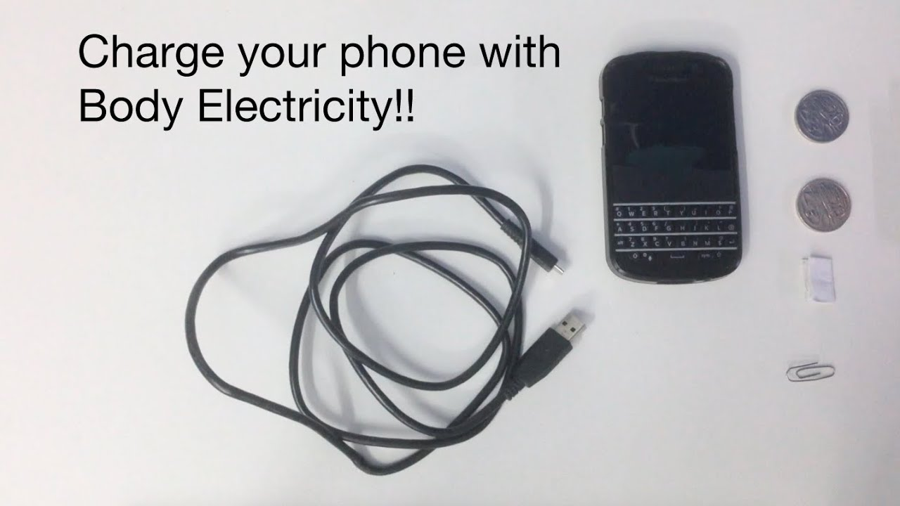 Charge your phone with body electricity!! - YouTube
