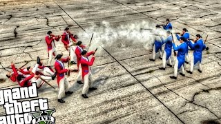 GTA 5 PC - Revolutionary War!! (Epic Gun Battle Mod!) Grand Theft Auto 5 Revolutinary War Mod