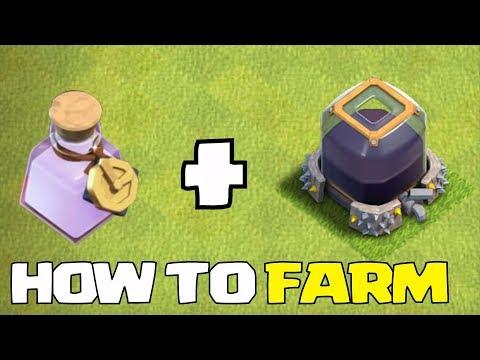 FARM w/ ANy Town HALL!! + CLoCK SPELLS