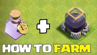 "FARM w/ ANy Town HALL!! + CLoCK SPELLS ""Clash Of Clans"" TIps & Tricks!!"