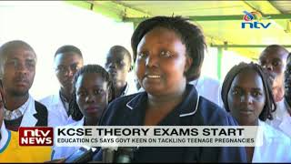 Students tackle mathematics and chemistry on day one KCSE exams