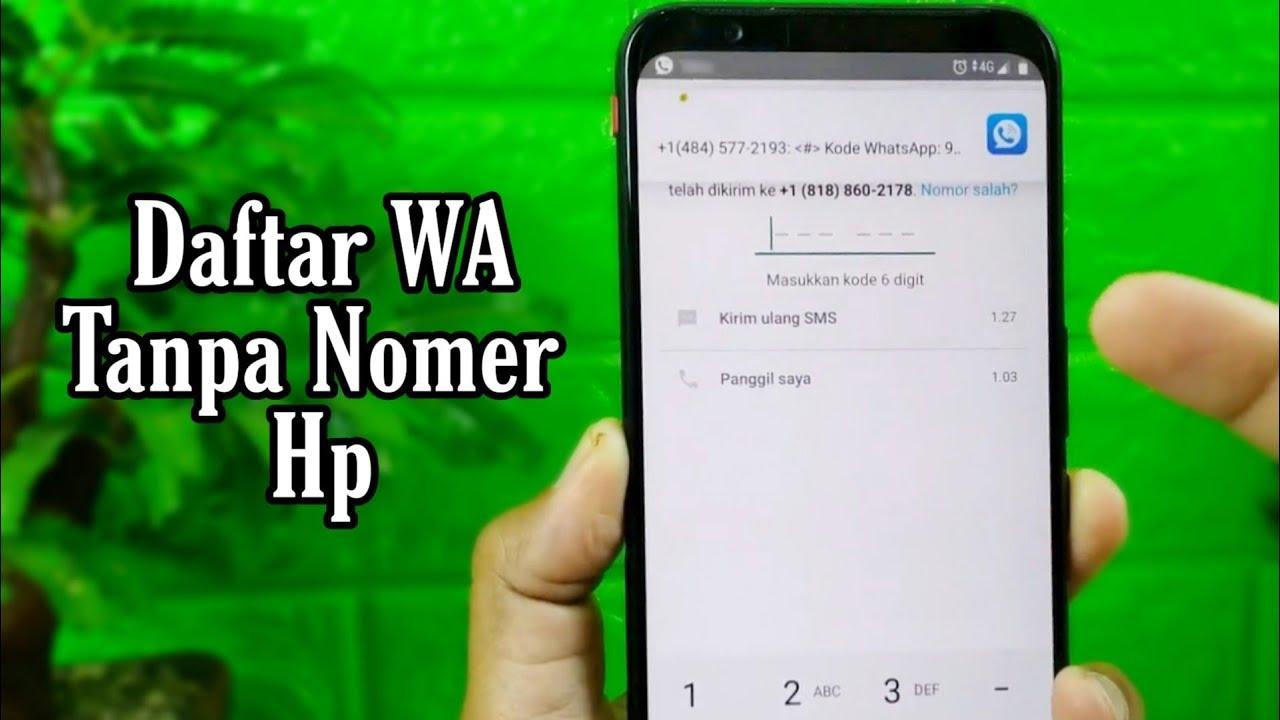 Cara Daftar Whatsapp Menggunakan Nomer Virtual Youtube