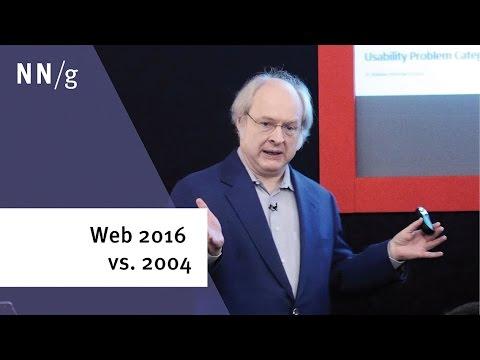 Web UX 2016 vs 2004 (Jakob Nielsen keynote)