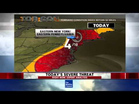 Severe Weather: Damaging Wind and Tornado Threat in the Northeast