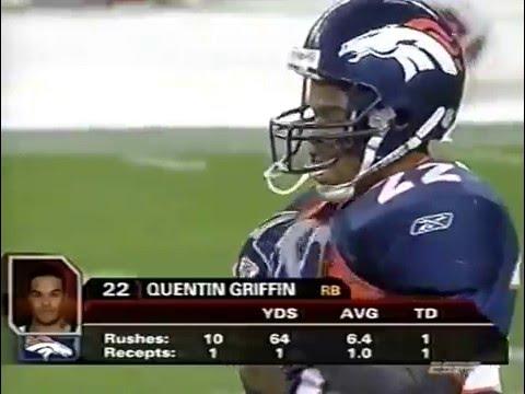 Quentin Griffin Denver Broncos vs KC. 3 TD Game