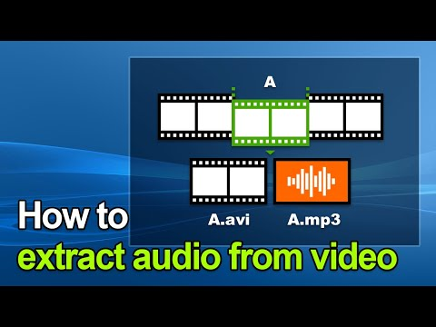 Bandicut - How to extract audio from video (MP4 to MP3