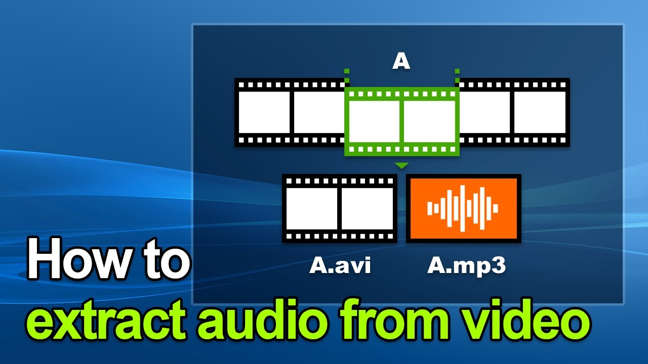 Mp3 Audio How To Extract Audio From Video Mp4 To Mp3 Avi To Mp3 Wmv To Mp3 Mov To Mp3 Bandicut