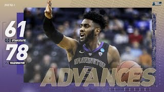 Utah State vs. Washington: First round NCAA tournament extended highlights