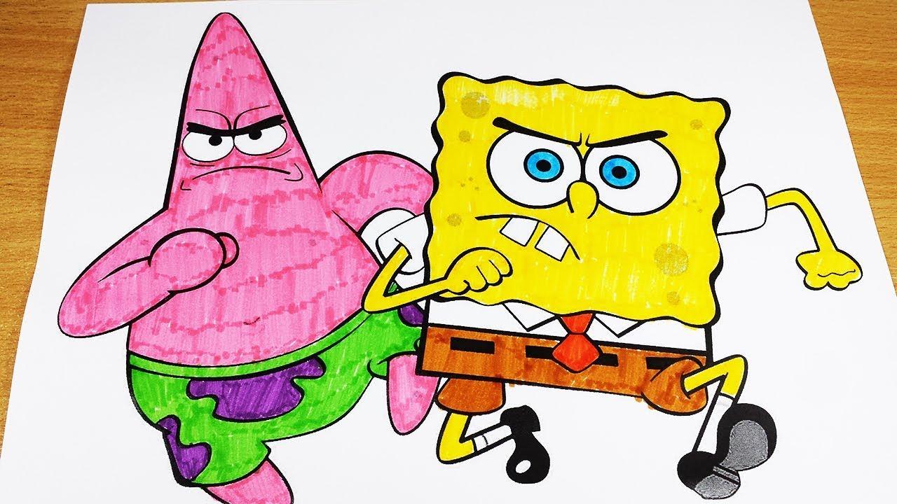 Coloring pages spongebob squarepants 3 coloring videos spongebob coloring book 2018 sponge videos