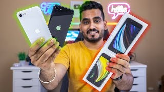 iPhone SE 2020 Unboxing In Hindi - WHITE & BLACK IPHONE SE UNBOXING