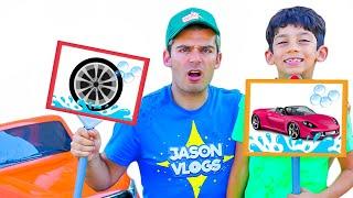 Jason starts car wash to buy ice cream