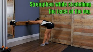Stretch and strengthen your legs, release your low back tension.