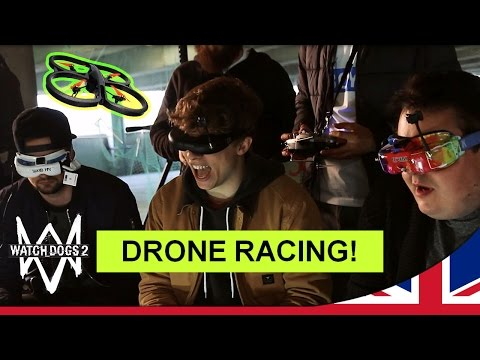 Watch Dogs 2 - DRONE RACING! w/ Ali-A, Daz Black & Slogoman [UK]