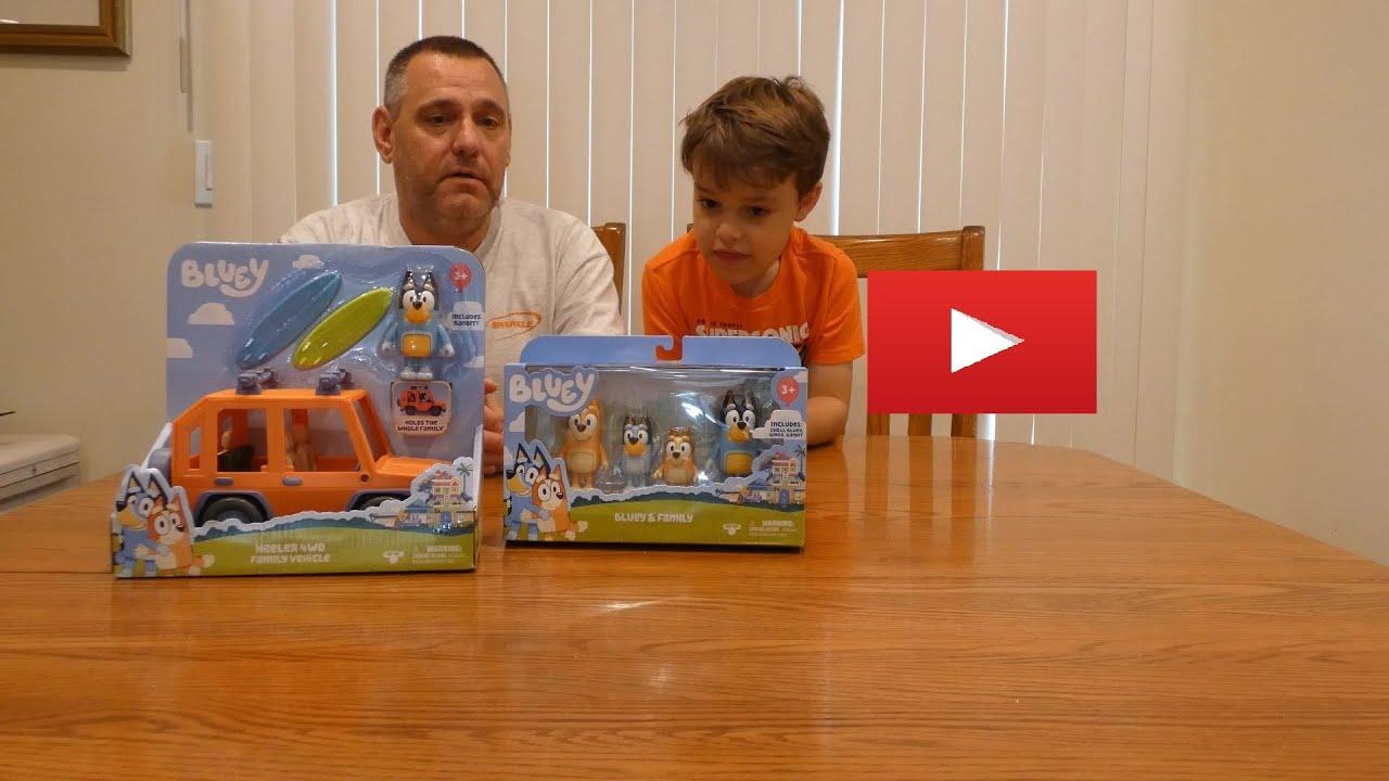 Zeke Un-Boxes Plays & Reviews Bluey Toys w/ Bandit, Chilli ...