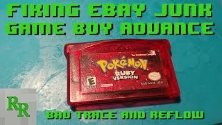 Fixing eBay Junk - Game Boy Advance Game - Game Won\'t Boot Up - Pokemon Ruby