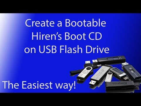 Create A Bootable Hiren's Boot CD On USB Flash Drive (2019) (Easy Version)
