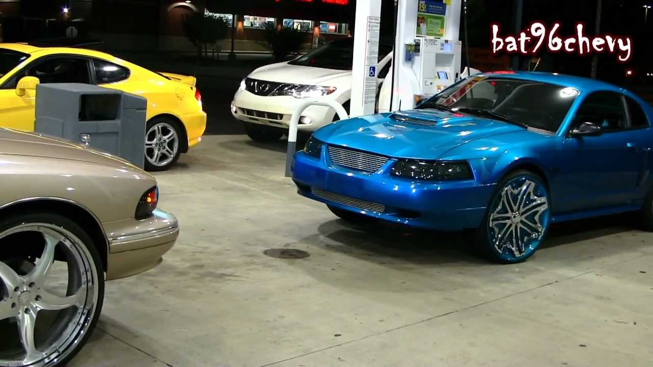 "Mustang Gt 0 60 >> 96 Caprice on 26"" Forgiatos & 02 Ford Mustang GT on 24"" Davins - 1080p HD - YouTube"