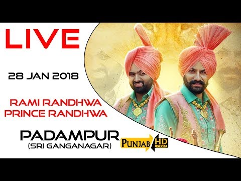 Rami R andhawa Prince Randhawa Live Performance - Padampur (Sri Ganganagar) 28 Jan 2018