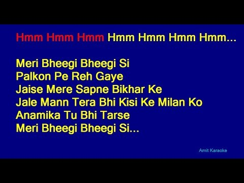 Meri Bheegi Bheegi Si - Kishore Kumar Hindi Full Karaoke with Lyrics