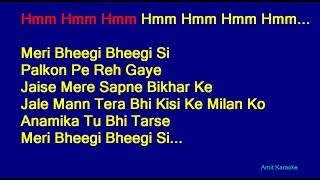 Meri Bheegi Bheegi Si - Kishore Kumar Hindi Full Karaoke with Lyrics