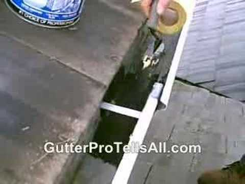 How To Repair Seams In Rain Gutters Youtube