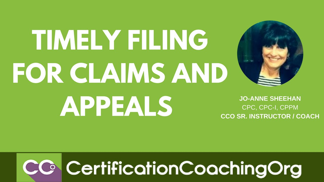 Timely Filing for Claims and Appeals | Medical Billing Tips - YouTube