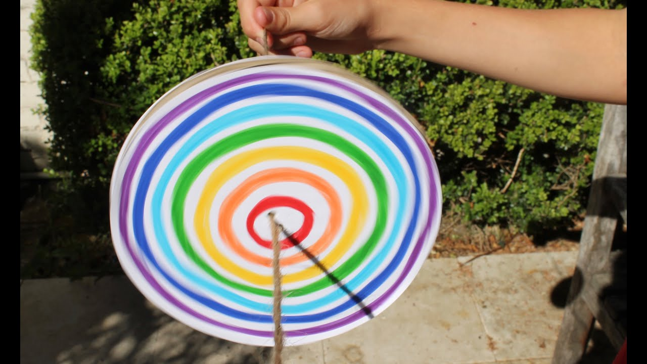 craft time ideas easy craft how to make a rainbow disc spinner 1688