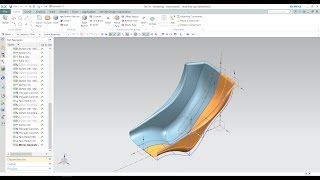 Basic Seat model | Seat surface | Seat wire-frame design  in NX siemens 10