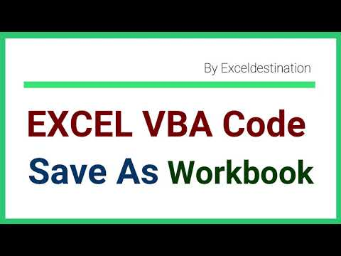 VBA Save As File to Specific Location - Workbook Save as VBA Code Examples