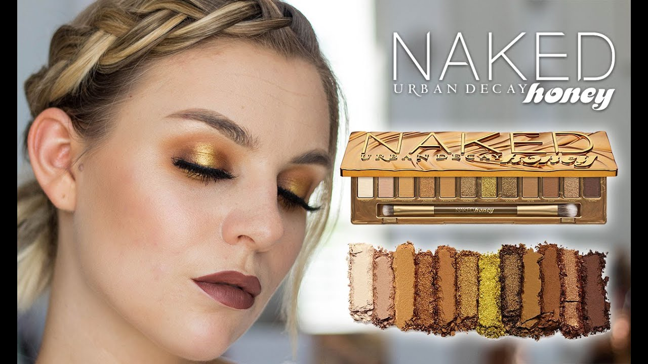 NEW URBAN DECAY HONEY PALETTE   REVIEW + TUTORIAL