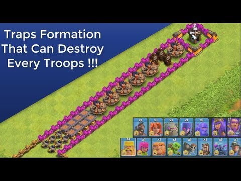 Every Troops VS Traps Formation | Clash of Clans